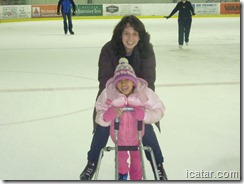 Julianne and Isabella get started on the ice.