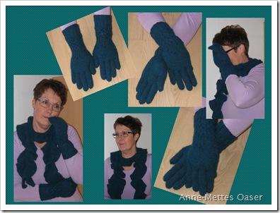 Spiral tørklæde og Knotty handsker