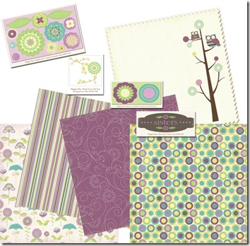 Maggie May Papers with embellishments