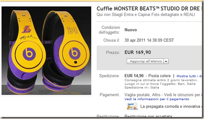 Cuffie MONSTER BEATS™ STUDIO DR DRE KOBE BRYANT Mp3 Mp4   eBay