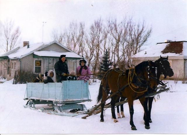Grandpa Lloyd_sleigh ride