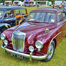 Red MG by Mick Tate - Transportation Automobiles ( red, ramsey, 1940`s, vintage, mg, wartime, classic )
