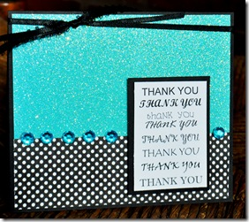 THANK YOU CARD GLITTER PAPER