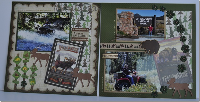 YELLOWSTONE 12X12 SCRAPBOOKING PAGE 2