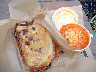 Savor Soup House, food cart, Portland, grilled cheese, soup, Tomato with Fennel and Orange soup