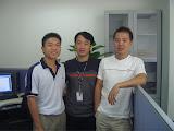 2006-09-18 我们的团队 CMREST 只有三人。左起我、忠钢(队长)及小西。