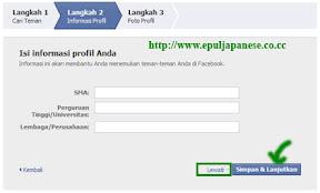 Panduan mendaftar di Facebook