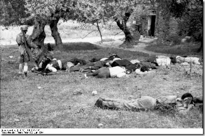 Executed Cretan civilians