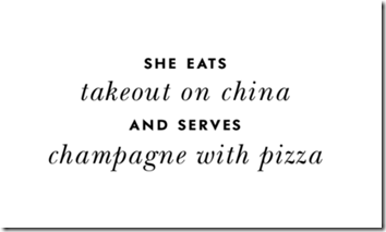 Takeout Champagne quote