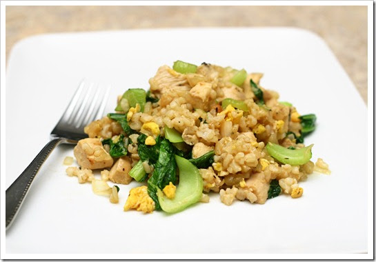 Proceed with Caution: Chicken Fried Rice with Bok Choy