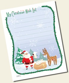 Disney Family Fun Christmas List Printable