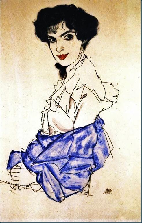Schiele - Bildnis Elisabeth Lederer - 1913