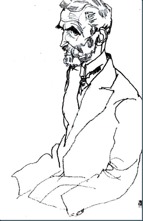 Schiele - Männliches Portrait - 1910
