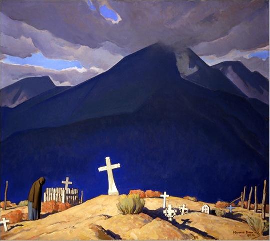 Maynard Dixon  campo santo 1931