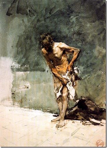 Fortuny -hombre semidesnudo