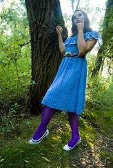 Blue polkadot Dress 1