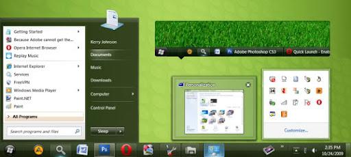 Clearscreen Windows 7 Theme