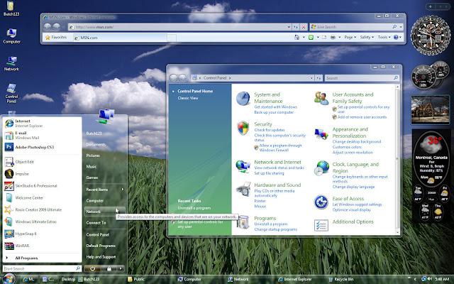 Windows Vista Themes Panorama For Windows xp