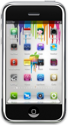 Apple Chromatic Theme For iPhone