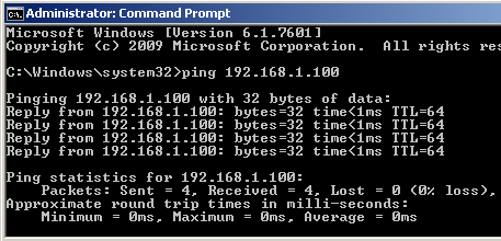 Windows 7 VM Command Prompt pinging Mac