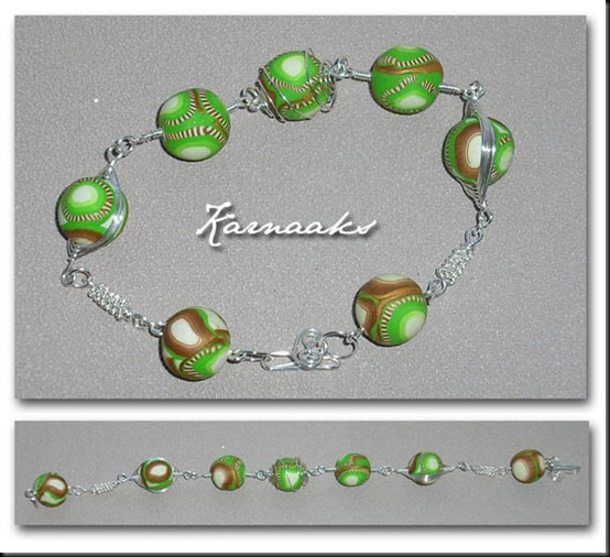 Donna Kato  style beads in bracelet