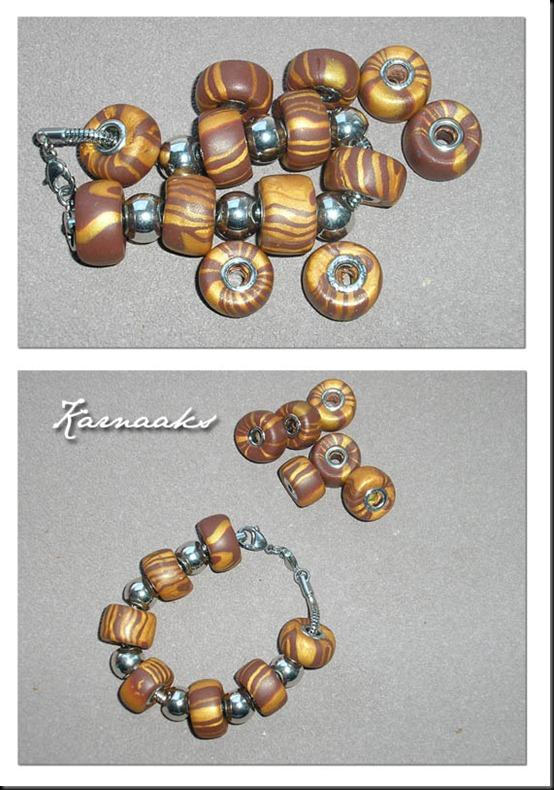 fimo  pandora style beads
