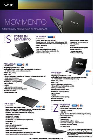 Catálogo de Produtos - Sony -
