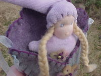 Wearable Dolly in a Pouch - Lavender/Blue
