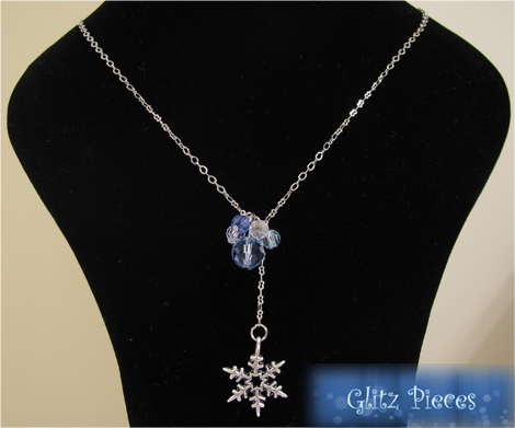 blue winter necklace