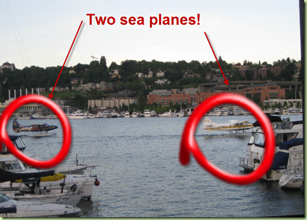 Two sea planes
