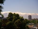 De LAs Chascona se vê a neve eterna de Los Andes