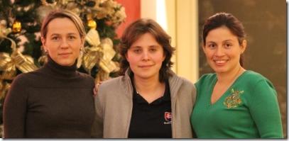 WGM Olga Zimina, WGM Yulia Kochetkova, WGM Martha Fierro