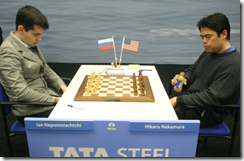 Nepomniachtchi vs Nakamura, Rd 11, Group A, Tata Steel Chess 2011