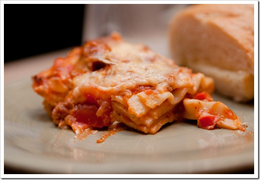 sausage&amp;pepperlasagna10
