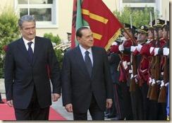 Sali Berisha me Silvio Berlusconi