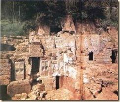 La tomba monumentale di Cerveteri, Italia