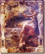 Theti zhyt Akilin në lumin Stirgë
