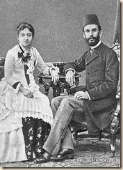 Sami Frashëri (1850-1904), së bashku me gruan e tij