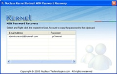 Kernel-MSN-Password-Recover