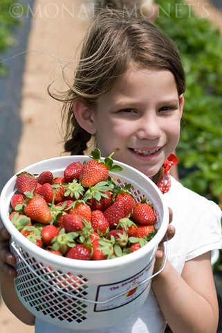 Brooke with strawberries blog