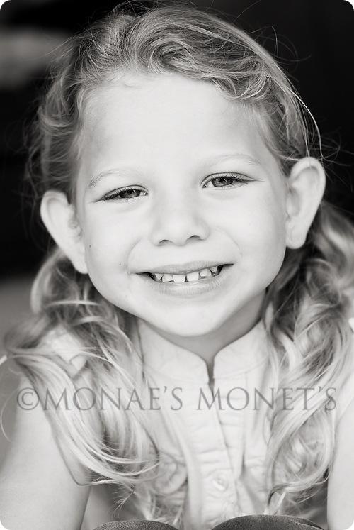 Erika smiling black and white blog