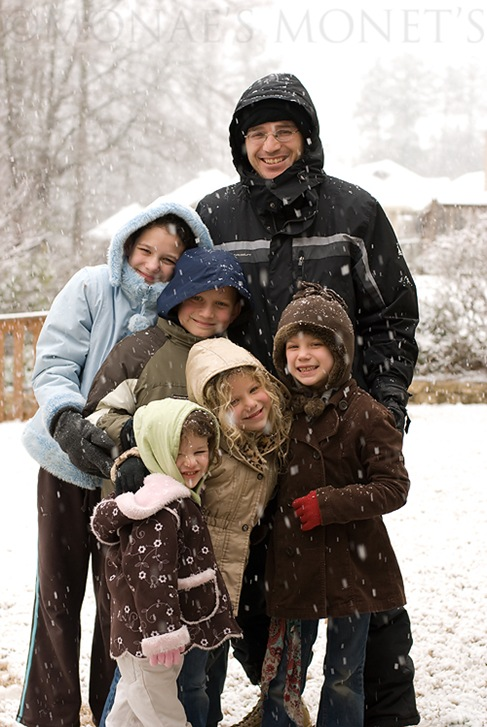 Snow day family pic blog