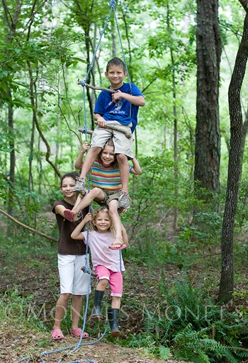 Kids on rope ladder blog