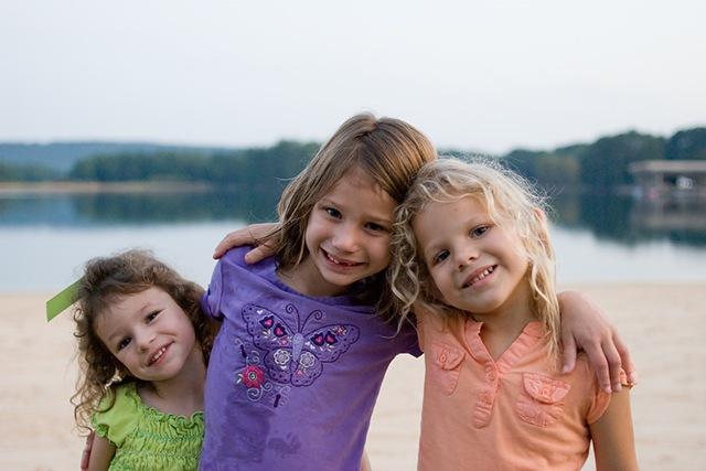 three girls by sand blog