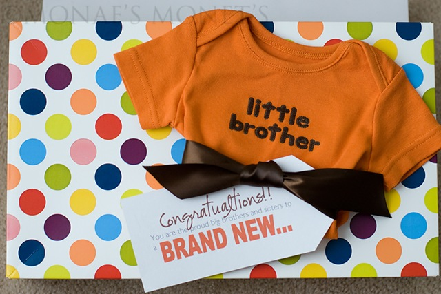 New brother onesie blog