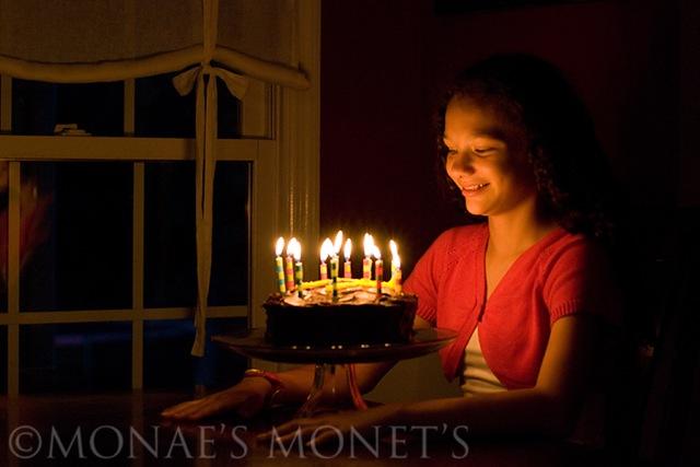 Brianna with birthday cake blog
