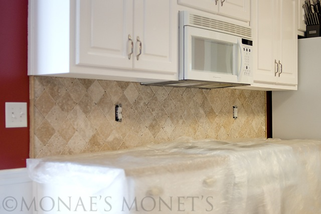 New backsplash by oven blog