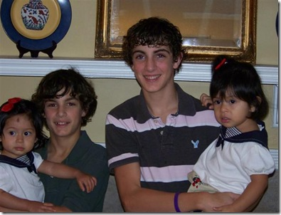 All 4 kiddos finally home together