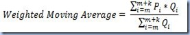 AVG - Weighted Moving Average