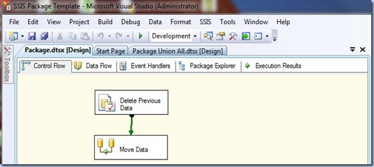 SSIS - Template Package